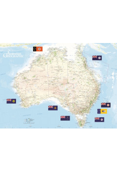Map Of Australia Facts.Australian Geographic Australia Scratch Map