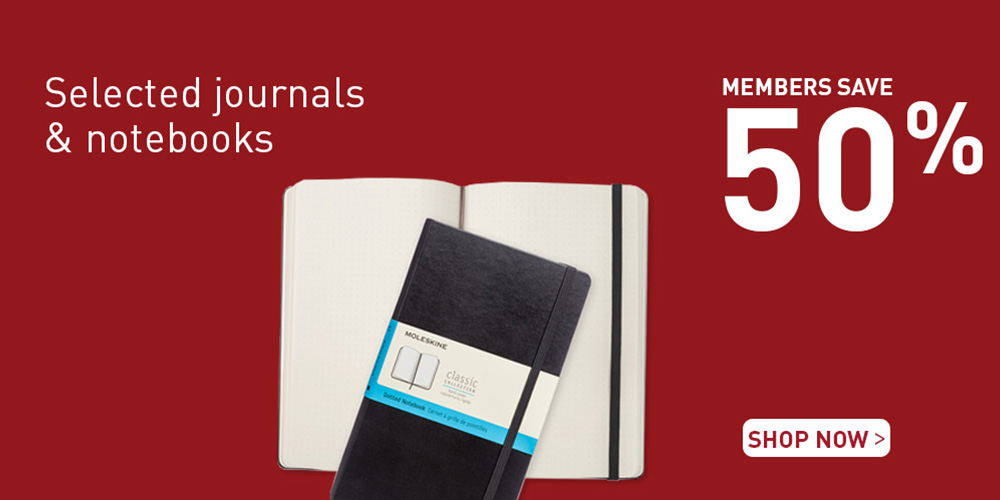 Members save 50% on notebooks