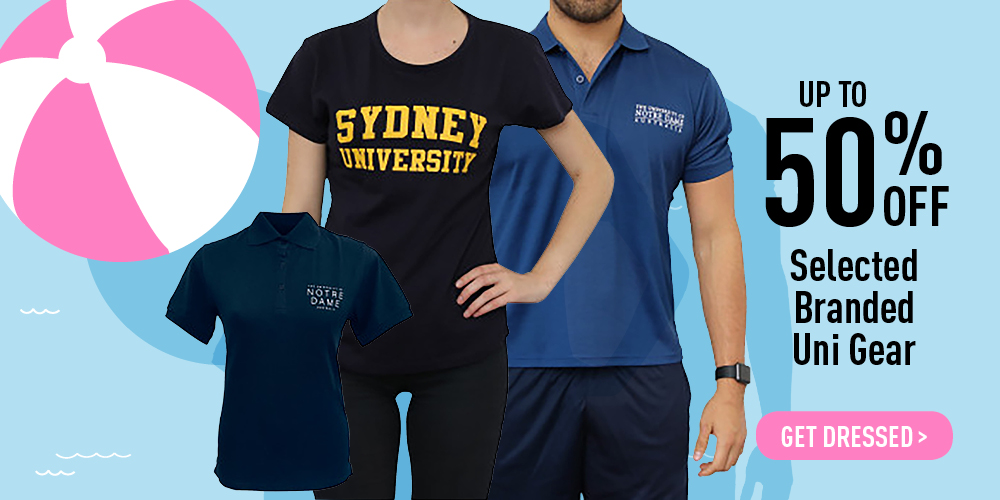 Up to 50% off selected branded Uni Gear