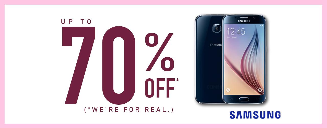 70% off Samsung